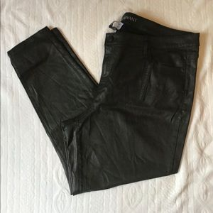 NWT Lane Bryant super stretchy Faux Leather Jeans